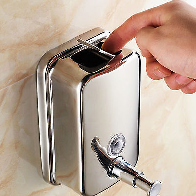£5.99 • Buy 800ML Stainless Steel Liquid Soap Dispenser Shampoo Lotion Pump Wall-Mounted