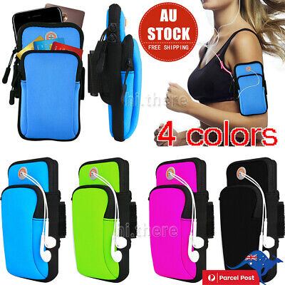 AU13.65 • Buy Sports Armband Gym Arm Band Pouch Holder Bag Case For IPhone XS Max Samsung S10