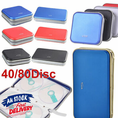 AU17.95 • Buy 40/80 Wallet Sleeve Holder Disc In Car Ideal For Storage Carry Case DVD CD
