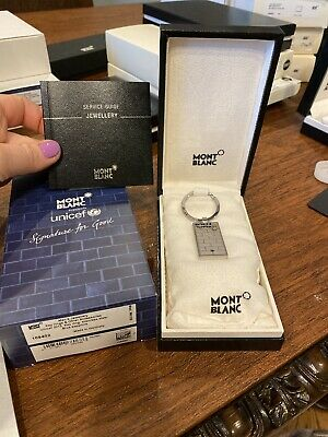 £141.97 • Buy Mont Blanc Unicef 2013 Key Ring Stainless Steel & Blue Sapphire