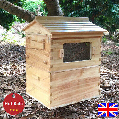 £119.99 • Buy Bee Hive House Super Brood 2-Layer Bee Keeping Box House For 7PC Bee Hive Frames