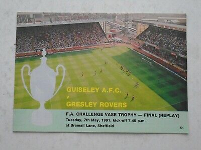 Guiseley AFC V Gresley Rovers 1991 FA Vase Final Replay • 1.50£