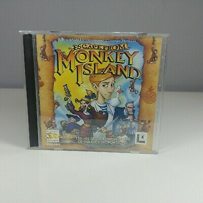 ESCAPE FROM MONKEY ISLAND PC CD ROM - LucasArts - Jewel Case • 4.45£