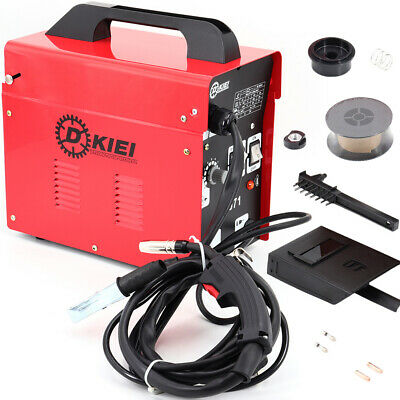 Red Gasless MIG Welder 120Amp No Gas Flux Core Industrial Welding Machine Kit • 95.95£