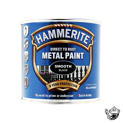 £9.99 • Buy Hammerite Smooth Metal Paint - 250ml Direct To Rust - All Colours Available
