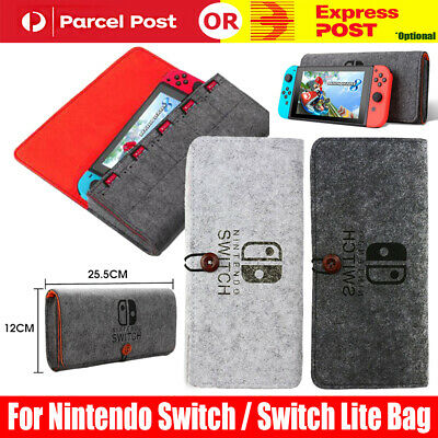 AU15.95 • Buy For Nintendo Switch / Switch Lite Felt Case Protective Cover Bag Console AU