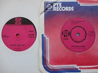 Honeycombs That's The Way/Have I The Right 2x7  1964 **EX X 2** • 1.65£