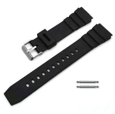 $ CDN13.27 • Buy Black Rubber Silicone Diver's Style Replacement Watch Band Strap SS Buckle #4031
