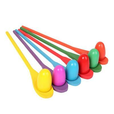 Egg And Spoon Race Game - 6 Eggs And 6 Spoons - Made Of The Finest Wood • 11.96£