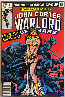 $9 • Buy John Carter Warlord Of Mars #11. Dejah Thoris Bondage Cover! Origin Issue! 1978