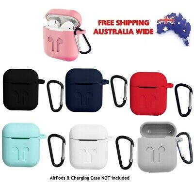 AU4.99 • Buy Apple Airpods 1 & 2 Silicone Case Cover Skin Accessories With Clip Air Pod