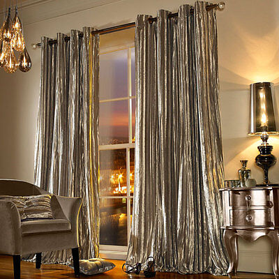 Kylie Minogue Iliana Praline Ready Made Eyelet Lined Curtains • 138.60£