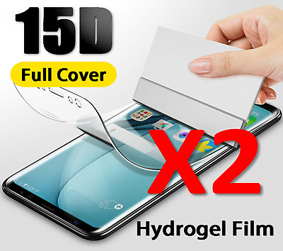 2X For SAMSUNG Galaxy S10 8 9 Plus S7 NOTE 8 TPU Hydrogel FILM Screen Protector • 2.45£