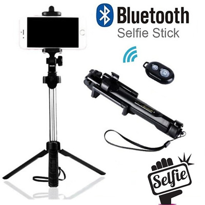 AU17.50 • Buy Tripod Bluetooth Handheld Selfie Stick Phone Holder Remote For IPhone Samsung