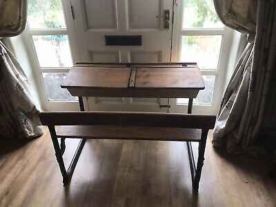 Children's Vintage Desk School Bench Double Stunning Example 🎉🎉 • 145£
