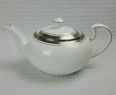 £85 • Buy Aynsley Concerto White Platinum Bone China Teapot - New With Barcodes Excellent