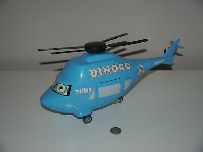 Disney Pixar Cars LARGE 14  DINOCO TRANSPORTING HELICOPTER N9747P With Sounds  • 17.99£