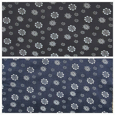 £5.25 • Buy 100% Viscose Fabric Small Flowers Floral Material Dressmaking 140cm Wide