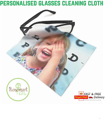 Personalised Photo, Design, Glasses Lens, Phone Screen Cleaning Cloth • 2.50£