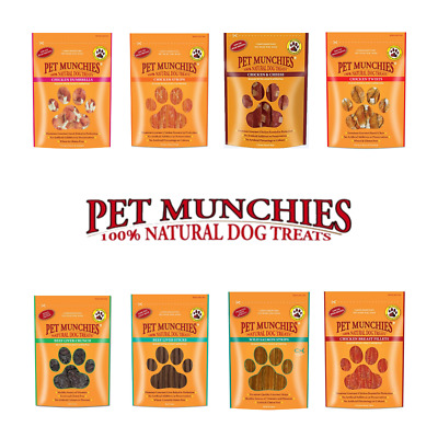 £3.99 • Buy Pet Munchies 100% Natural Dog Puppy Food Real Meat Treats & Training Chews