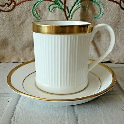 Crown Staffordshire Fine Bone China Golden Glory White Gilt Gilded Cup & Saucer • 9.99£