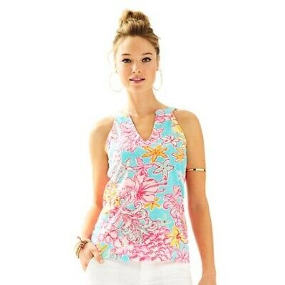 $24.95 • Buy Lilly Pulitzer Arya Tank Top Lolita Breakwater Blue Size Small