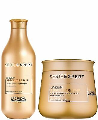 L'Oreal Serie Expert Lipidium Absolut Repair Shampoo And Masque 300 + 250 ML • 61.95£