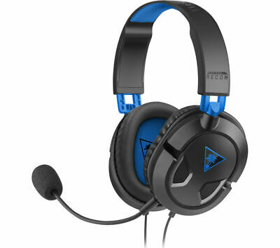 £19.99 • Buy TURTLE BEACH Ear Force Recon 50P Gaming Headset - Black & Blue - Currys