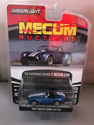 1967 Shelby Cobra 427 S/C Roadster Blue Metallic  White Stripes GREENLIGHT 1/64 • 13.50£