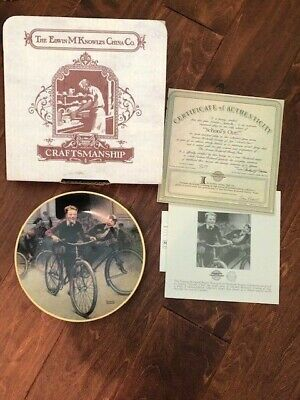 $ CDN7.43 • Buy RARE Norman Rockwell Coming Of Age Schools Out Collector Plate W/ COA MINT