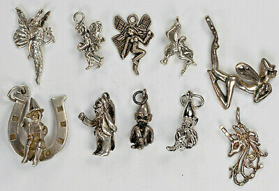 £15.39 • Buy Sterling Silver Gnome & Fairy Themed Charms Miniature Figure Pendant Your Choice