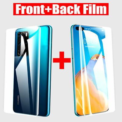 £2.99 • Buy Front + Back Hydrogel Screen Protector For Huawei P20 P30 P40 Pro Mate 30 Lite