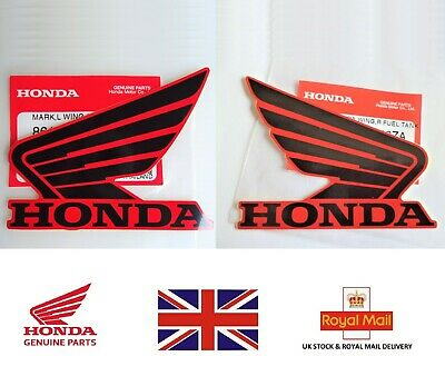 £8.95 • Buy HONDA GENUINE WING FUEL TANK STICKER WING RED DECALS 90mm