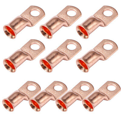 $12.99 • Buy 10 X Gauge 2/0-3/8 Battery Cable Ends Lugs Copper Ring Terminals Wire Connector