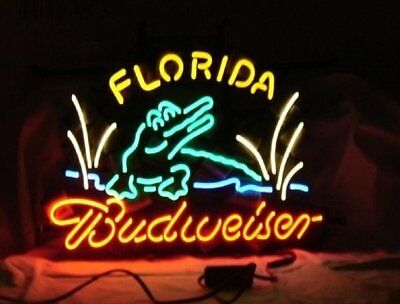 $ CDN278.90 • Buy 24 X20 Florida Budweiser Neon Sign Light Beer Bar Pub Wall Hanging Nightlight