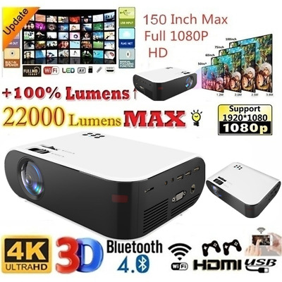 AU127.99 • Buy Portable HD 1080P Projector Android WiFi Bluetooth Theatre Home Cinema HDMI USB