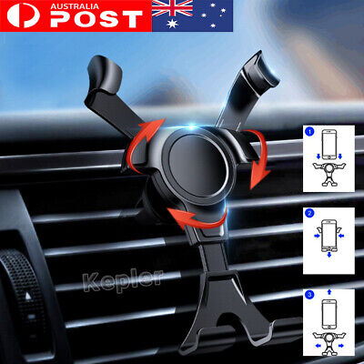 AU13.95 • Buy Universal Gravity Car Holder Mount Air Vent Stand Cradle For Mobile Cell Phone