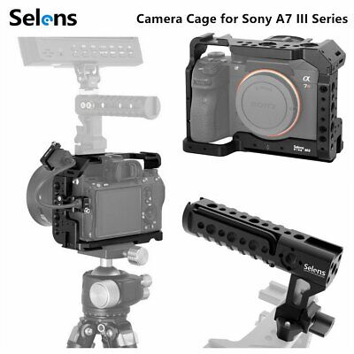 $ CDN65.71 • Buy Pro Camera Cage Rig Video Protective Case Grip For SONY A7RIII/A7M3/A7III Series