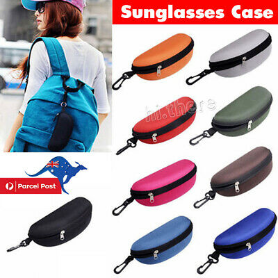 AU8.75 • Buy Portable Zipper Eye Glasses Sunglasses Clam Shell Hard Protector Case Box Pouch