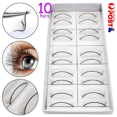 AU12.72 • Buy 10 Pairs Eyelash Extension Practice Lashes Professional Training Strip Lashes