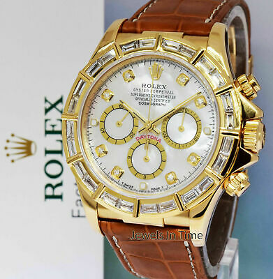 $24800 • Buy Rolex Daytona Zenith Chronograph 18k Gold & Diamond Mens Watch 16518