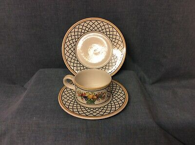 "Villeroy & Boch Basket Trio,tea Cup,saucer And 7""side Plate, Used Good Condition • 17.50£"