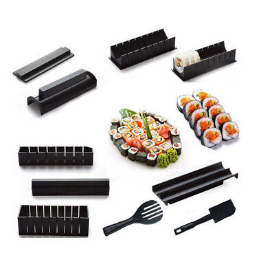 Pack Of 10 Sushi Mold Roll Rice Ball Heart Mould Utensils Kitchen Maker Tool Set • 11.95£