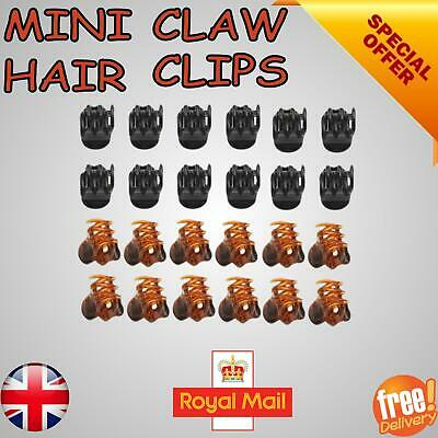 £3.75 • Buy Mini Plastic Hair Claw Clamps Bulldog Clips Grips Style Fashion Accessory UK