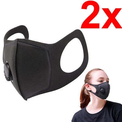 $ CDN9.99 • Buy [2-Pack] Breathable Reusable Washable Flexible Face Covering Mask With Valve