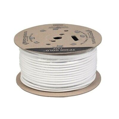 New Prysmian Fp200 Gold Fire Protected Cable 2-core 2.5mm² X 100m White • 127.97£