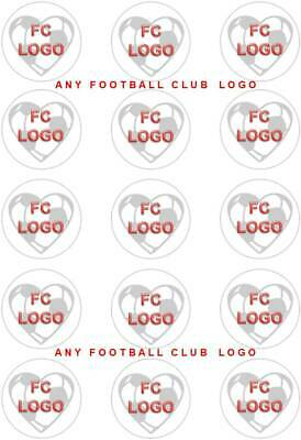 Any Football Team Crest / Logo; Cupcake Topper Circles • 2.70£
