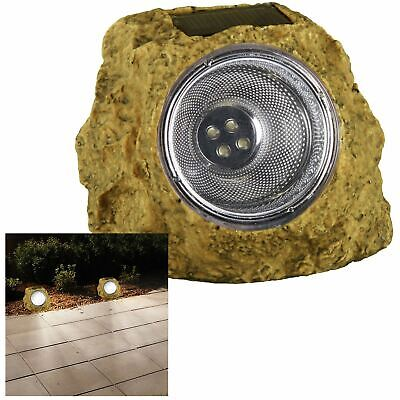 Solar Led Garden Rock Bright Light Walkway Path Landscape Patio Stone Spotlight • 5.99£