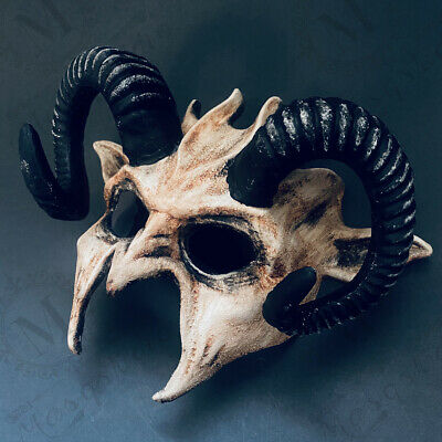 £27.58 • Buy Masquerade Devil Ram Horn Halloween Costume Party Animal Cosplay Party NEW