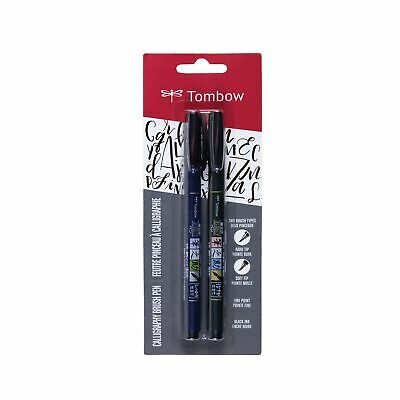 Tombow Fudenosuke Brush Pen - Black (2 Set) • 7.67£